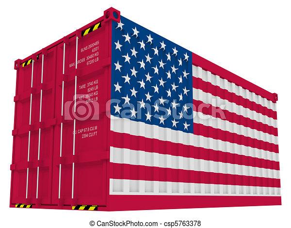 lading, amerikaan, container - csp5763378