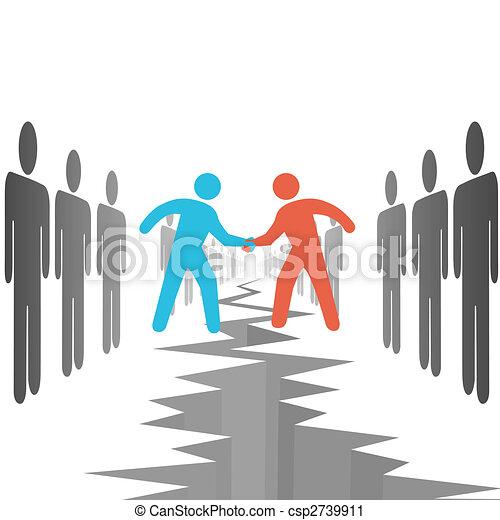 La gente de los lados pacta un acuerdo - csp2739911