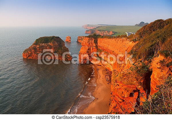 Ladram Bay in Devon, UK. - csp23575918