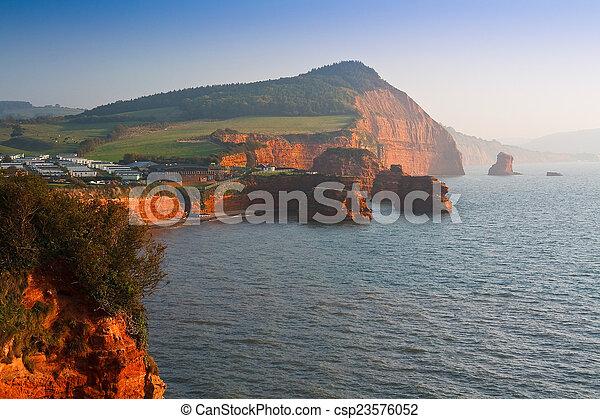 Ladram Bay in Devon, UK. - csp23576052