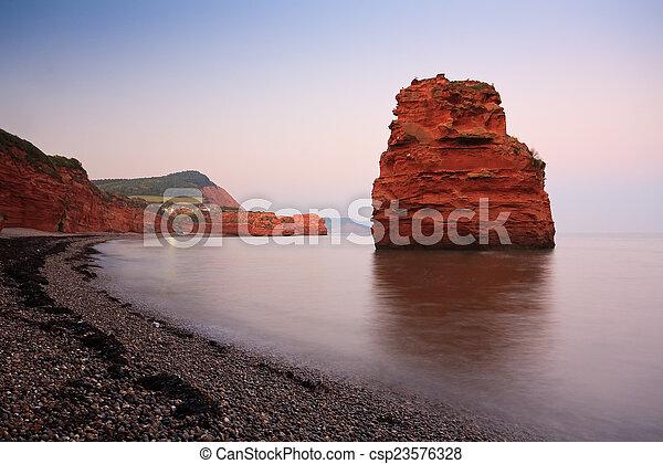 Ladram Bay in Devon, UK. - csp23576328
