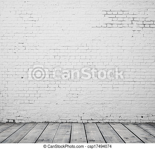 El cuarto de ladrillo blanco - csp17494074