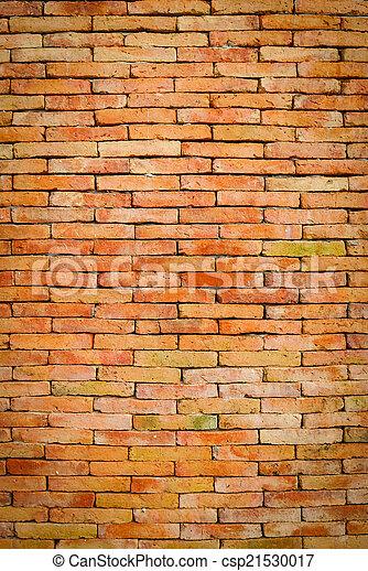 Antecedentes de textura de pared de ladrillo - csp21530017