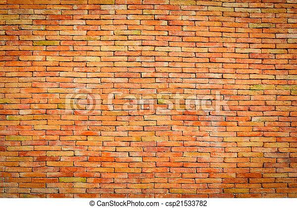 Antecedentes de textura de pared de ladrillo - csp21533782