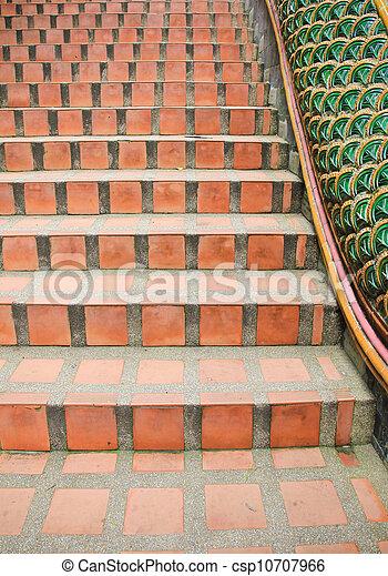 Ladrillo rojo escalera - Escaleras de ladrillo ...