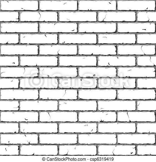 La pared de ladrillos. textura inmaculada. - csp6319419