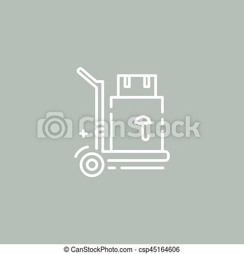 Ladung, linie, karren, logo. Ladung, stil, schablone,... Vektor ...