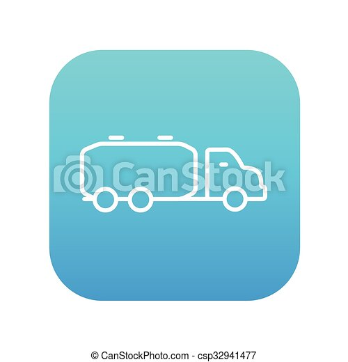 Ladung, linie, lastwagen, icon., flüssiglkeit. Blaues,... Vektoren ...