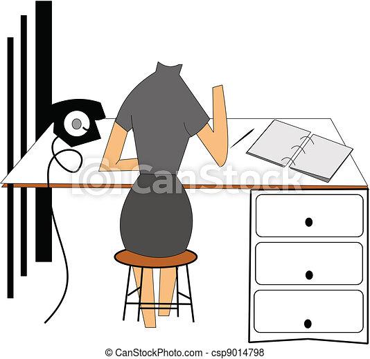 lady at table - csp9014798