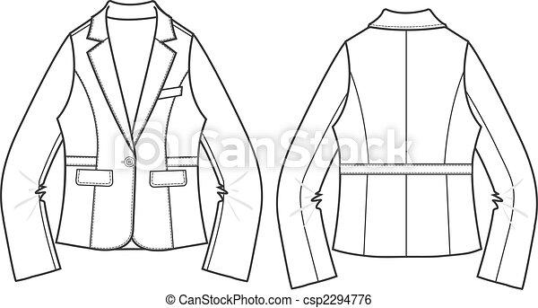 lady blazer formal jacket - csp2294776