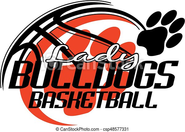 lady bulldogs basketball team design with paw print for vectors rh canstockphoto ie