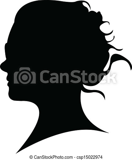 lady head silhouette vector vectors illustration search clipart rh canstockphoto com human head silhouette vector head silhouette vector free