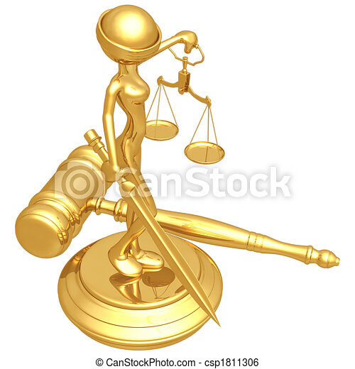 lady justice 3d concept and presentation figure stock