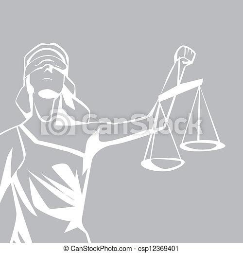 lady justice - csp12369401
