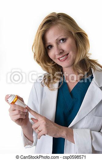 Lady pharmacist - csp0598571