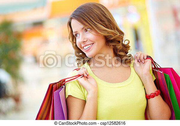 Lady shopper - csp12582616