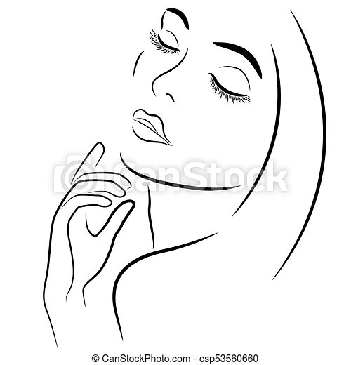 Lady With Closed Eyes Abstract Beautiful Woman With Closed Eyes