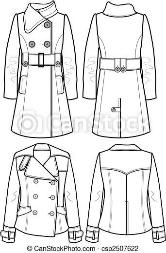 lady wool jacket - csp2507622