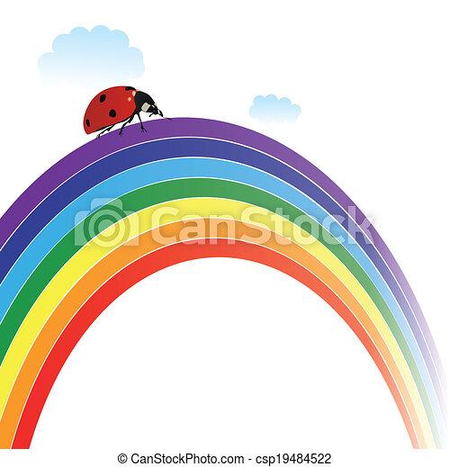 ladybird on rainbow - csp19484522