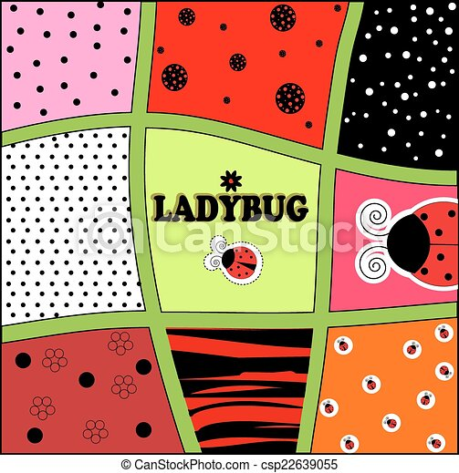 Ladybug background invitation card vector illustration art clipart ladybug background invitation card vector stopboris Image collections
