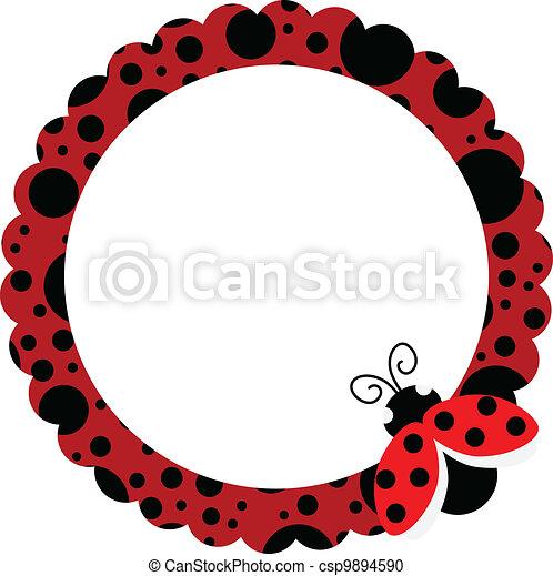 Ladybug Circle Frame - csp9894590
