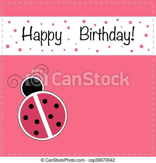 Ladybug happy birthday invitation ladybug happy birthday invitation csp30670042 stopboris Image collections