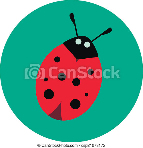 ladybug on a green background - csp21073172