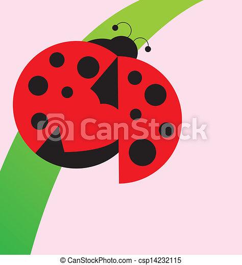 Ladybug on grass - csp14232115