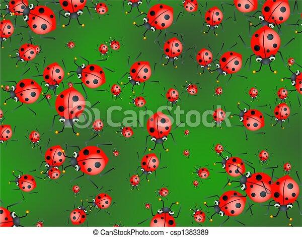 ladybug wallpaper - csp1383389