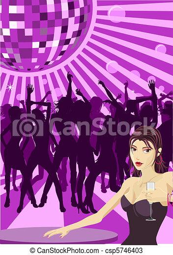 Ladys night illustration - csp5746403