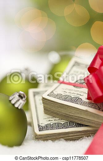 lagförslaget, dollar, bog, agremanger, stack, hundra, jul - csp11778507