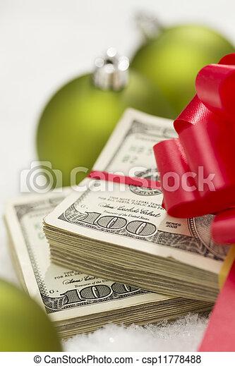 lagförslaget, dollar, bog, agremanger, stack, hundra, jul - csp11778488