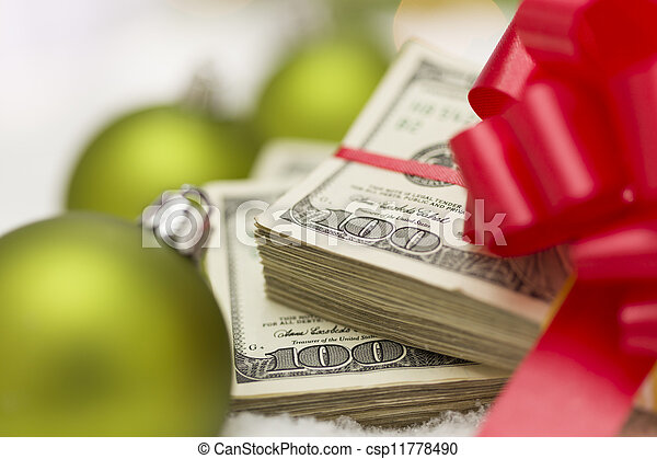 lagförslaget, dollar, bog, agremanger, stack, hundra, jul - csp11778490