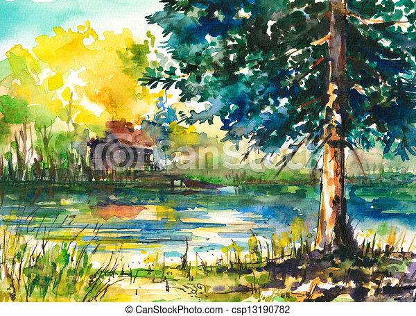 lago - csp13190782