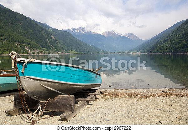 Lago di Poschiavo Switzerland - csp12967222