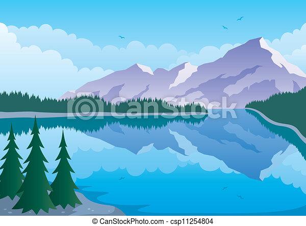 Lago de montaña - csp11254804