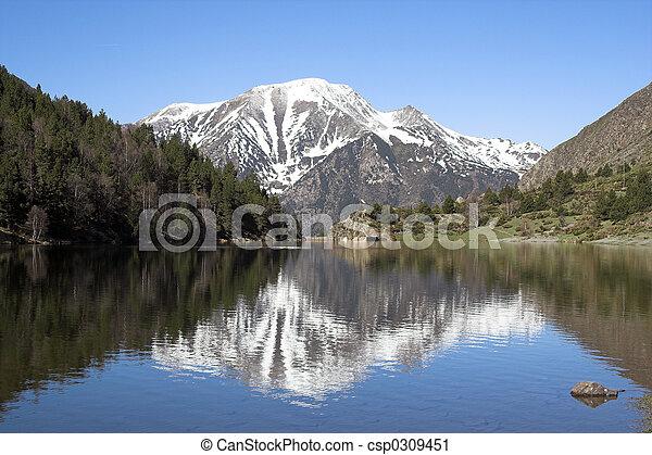 Lago de montaña - csp0309451