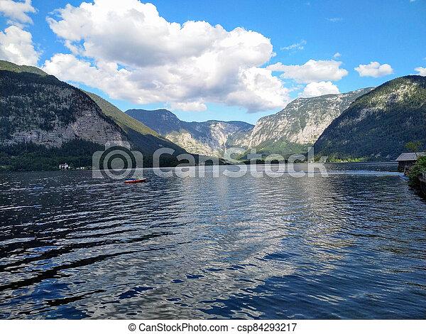 lago, montanha - csp84293217
