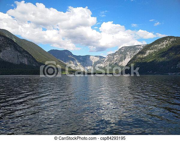 lago, montanha - csp84293195