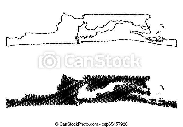Lagos State map - csp65457926