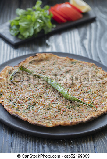 lahmacun traditional turkish pizza - csp52199003
