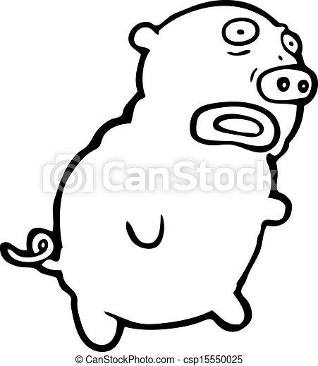 Laid dessin anim cochon - Dessin cochon debout ...