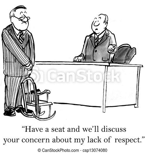 laissons, respect, manque, mon, discuter - csp13074080