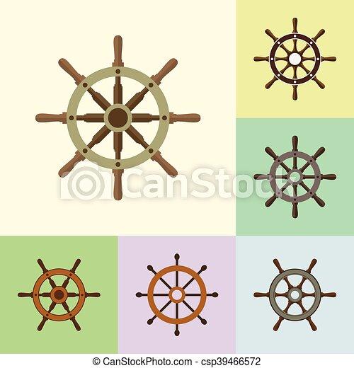lakás, állhatatos, ikonok, vezetés, hajó, kormányzó - csp39466572