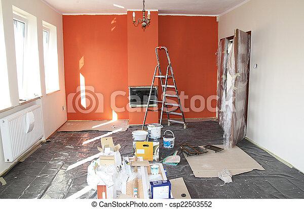 lakás, helyreállítás - csp22503552