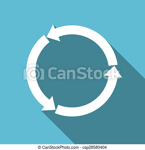 lakás, ikon, felfrissít, reload - csp28580404