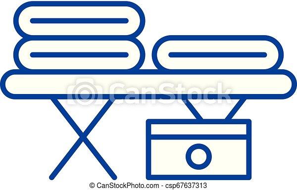 lakás, illustration., aláír, concept., jelkép, vektor, asztal, egyenes, ikon, masszázs, áttekintés - csp67637313