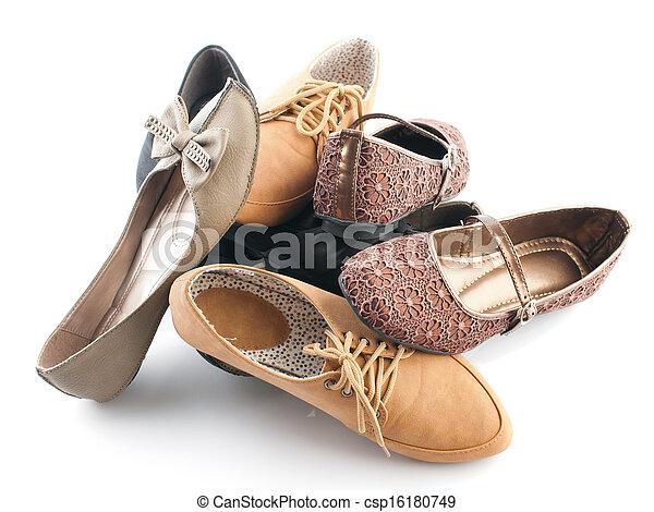 lakás, különféle, cipők, női, cölöp - csp16180749