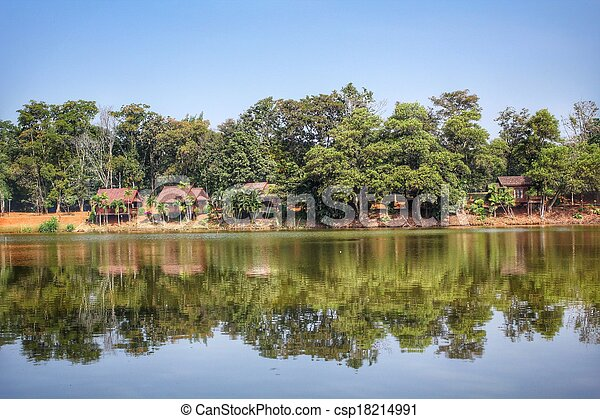 Lake and forest - csp18214991