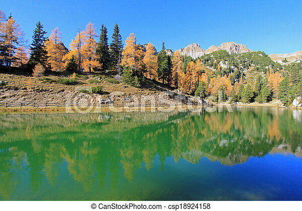 Lake at Rofan Gebirge, Austria  - csp18924158
